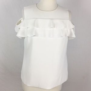 Ted Baker Hopee Double Frill Cold Shoulder Top